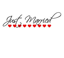Just Married Hearts Logo by Style-O-Mat
