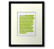 The Fault in Our Stars Green Passage Framed Print