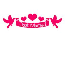 Just Married Hearts Dove Banner Design by Style-O-Mat
