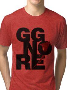 GG NO RE black Tri-blend T-Shirt
