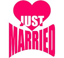 Just Married Heart Logo-Design by Style-O-Mat