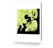 Woodland Shadows - Fox and Squirrel:Spring Greeting Card