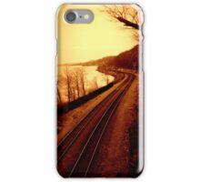 Train Tracks by the Hudson River - Angular Crop iPhone Case/Skin