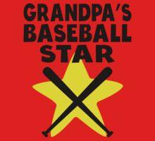 Grandpa's Baseball Star Baby Tee