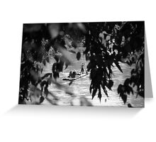 Floating on Mekong River Greeting Card