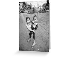 Village life in Laos Greeting Card
