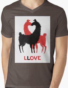 Llama Llove Mens V-Neck T-Shirt