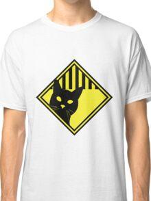 Cat Warning Classic T-Shirt