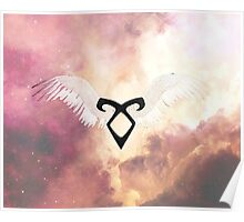 The mortal instruments : Shadowhunter rune - Angelic Power with wings Poster