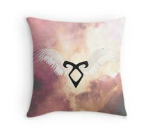The mortal instruments : Shadowhunter rune - Angelic Power with wings Throw Pillow
