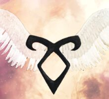 The mortal instruments : Shadowhunter rune - Angelic Power with wings Sticker