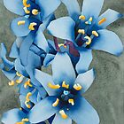 Blue Flowers by Ken Powers