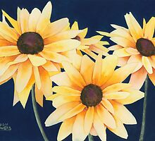 Black-Eyed Susans Two by Ken Powers