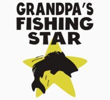 Grandpa's Fishing Star Kids Tee