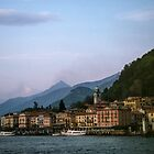 The town from the beach Bellagio Italy 198404240074 by Fred Mitchell