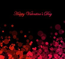 Red and Pink Bokeh Hearts - Valentine's Day  by RumourHasIt