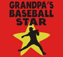 Grandpa's Baseball Star One Piece - Short Sleeve