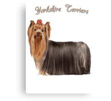 Yorkshire Terrier Love Canvas Print