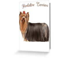 Yorkshire Terrier Love Greeting Card