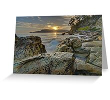 Adventure Bay dawn - Bruny Island, Tasmania Greeting Card