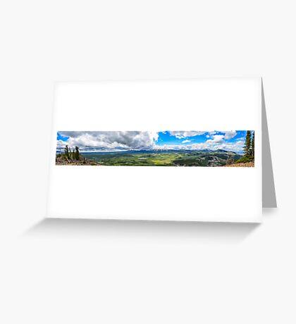 Peak of Mt. Bunsen, Yellowstone Natl. Park Greeting Card