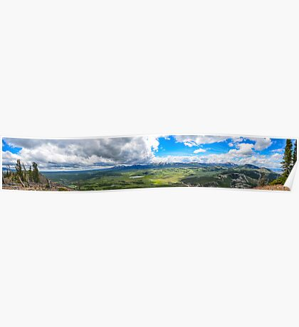 Peak of Mt. Bunsen, Yellowstone Natl. Park Poster