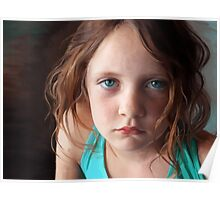 The day she was sick and didn't want to smile Poster