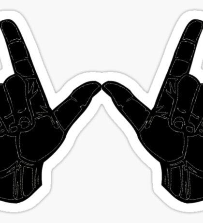 Wisco Hand Sign Sticker