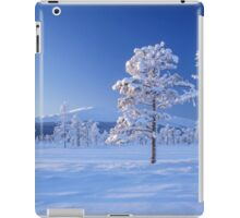 Snow covered trees iPad Case/Skin