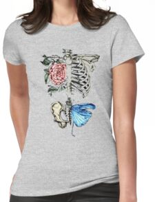 Illustration - Skeleton nature Womens Fitted T-Shirt