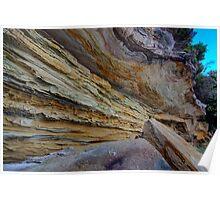 Sandstone - Bruny Island, Tasmania Poster