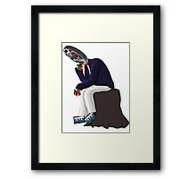 The Thinker - Retro Geek Chic Framed Print