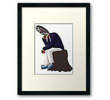 The Thinker - Retro Geek Chic Framed Print
