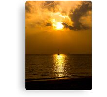 A Solo Sunset Canvas Print
