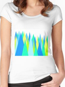Blue Green Fun Spikes Women's Fitted Scoop T-Shirt