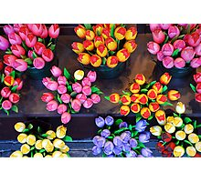 Artifical tulips Photographic Print