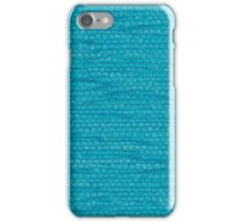 Blue fabric iPhone Case/Skin