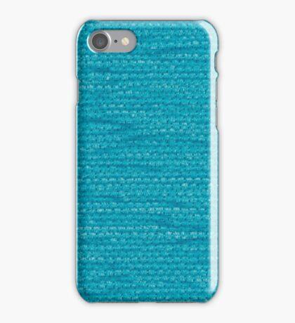 Blue fabric iPhone Case/Skin