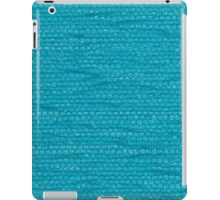 Blue fabric iPad Case/Skin