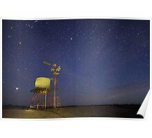 Golden Windmill Poster
