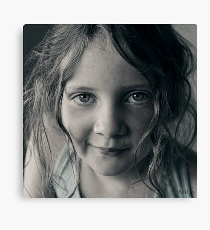 And then she smiled after all ... Canvas Print