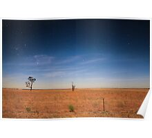 Mallee nightscape Poster