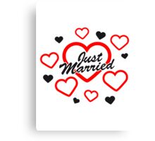 Just Married Design Canvas Print