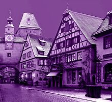 Purple view on Rothenburg by Arie Koene