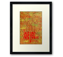 LOVE YOU 15 Framed Print