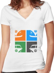 VW Bright Women's Fitted V-Neck T-Shirt