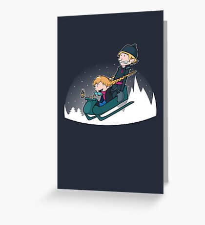 A Snowy Ride Greeting Card