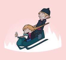 A Snowy Ride Kids Tee