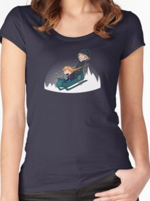 A Snowy Ride Women's Fitted Scoop T-Shirt