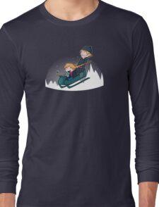 A Snowy Ride Long Sleeve T-Shirt
